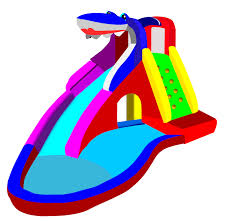 Inflatable Water Slide Clipart Swimming Pool With