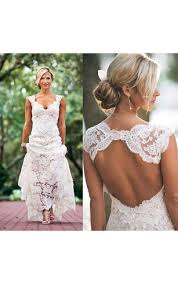 Country Lace Wedding Dress Rustic Gowns Western Bridal Dresses Dorris Elegant