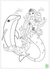 Full Image For Printable Barbie Fashion Coloring Pages Mermaid