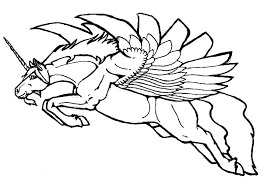 Unicorn Wings Coloring Pages For Kids Many Interesting 4