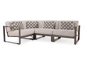 Mathis Brothers Sofa Sectionals by Four Piece Aluminum Sectional In Cream Mathis Brothers Furniture