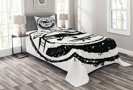 aviation retro print vintage airplane quilted bedspread