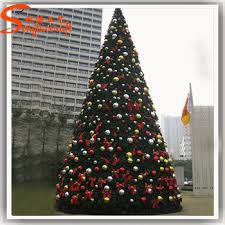 Large Led Artificial Giant Christmas Tree Stand Fiber Optic Snowing For Sale