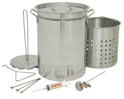 Bayou Classic Stainless Steel 32 Qt. Turkey Fryer & Reviews   Wayfair Backyard Pro 30 Quart Deluxe Turkey Fryer Kit Steamer Food Best 25 Fryer Ideas On Pinterest Deep Fry Turkey Fry Amazoncom Bayou Classic 1195ss Stainless Steel 32 Accsories Outdoor Cookers The Home Depot Ninja Kitchen System 1500 Canning Supplies Replacement Parts Outstanding 24 Basic Fried Tips Qt Cooking 10 Pot Steel Fryers Qt