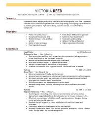 Best Server Resume Example