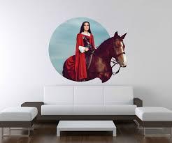 3d fenster wandbild wandtattoo aufkleber pferd hengst reiten