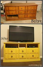 DIY Dresser to TV Console My result Great way to repurpose some