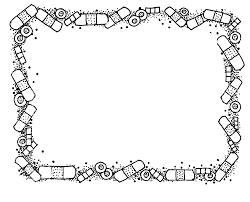 Black And White Halloween Border Clip Art