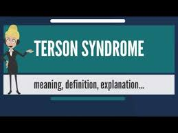 TERSON SYNDROME Meaning Explanation