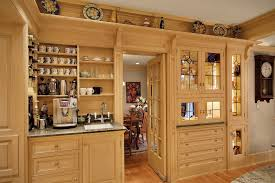 Office Coffee Bar Ideas Kitchen Traditional With Plate Shelf Custom Wood Cabinets