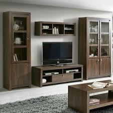 details zu wohnwand anbauwand wohnzimmer set indigo 4 teilig in eiche durance kolonialstil