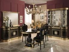 italienische stilmöbel esszimmer mit tisch stühle und vitrine