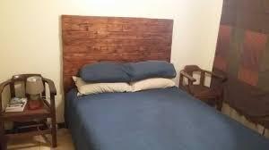 Pallet Bed Frame by 4 Pallets Bed Headboard U2022 1001 Pallets