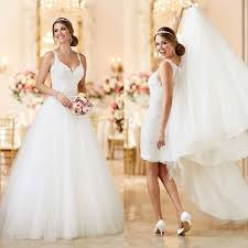 Convertible Wedding Dress Two Gowns In E 26 Fashion forward