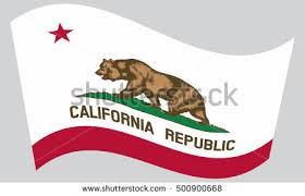 Californian Official Flag Symbol American Patriotic Element USA Banner United States Of