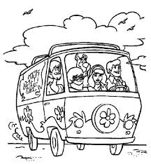 Scooby Doo Coloring Book Pages Download Mystery Machine Page Free Printable Colouring Games