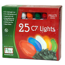 Glass Bulbs For Ceramic Christmas Tree by Amazon Com Christmas Lights Set Multi Color Ceramic 25 Count C7
