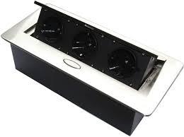 versenkbare steckdose für küche und büro mit softöffnung ideal für arbeitsplatte als tischsteckdose oder bodensteckdose aluminium spritzguss mit
