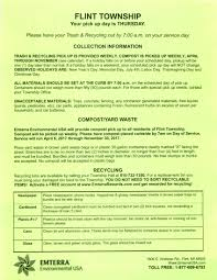 Waste Management Christmas Tree Pickup Schedule by Flint Township U003e Residential Services U003e Waste U0026 Trash Collection