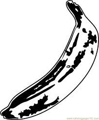 Banana By Andy Warhol Coloring Page