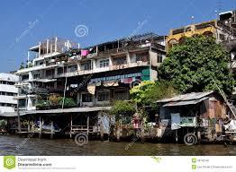 100 Homes In Bangkok Thailand On Chao Praya River Editorial Photo