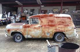 100 1959 Ford Panel Truck Chevy 350 Runs