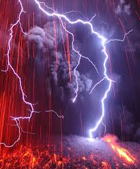Volcano Eruption And Lightning Storm In Kyushu Japan Although Its Deadly It Is