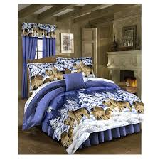 Bed Skirts Queen Walmart by Midnight Wolves Bed In A Bag Queen Walmart Com