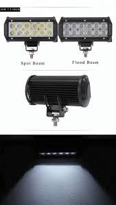 100 Work Lights For Trucks 3D Led Light Bar CREE 18W 36W 72W 108W 12v Spot Flood