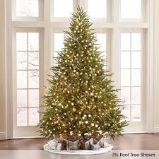 Best Fraser Fir Artificial Christmas Tree by The World U0027s Best Prelit Fraser Fir 7 5 U0027 Full Led Hammacher