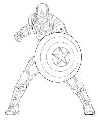 Coloring Pages Captain America Sheet Free Lego