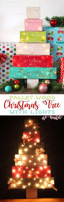 Make A Pallet Wood Christmas Tree With Lights Without Having To Build It From Scratch