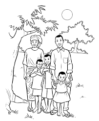 Free Coloring Pages My Family