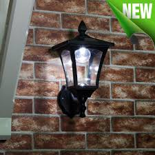 outdoor solar wall light white