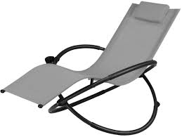 Goplus Outdoor Orbital Lounger Zero Gravity Chaise Foldable Rocking Chair  W/Removable Pillow & Cup Holder Portable Chair For Camping, Fishing, Beach,  ...