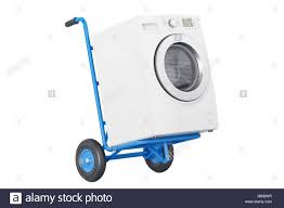 100 Appliance Truck Delivery Hand Truck With Washing Machine 3D Rendering