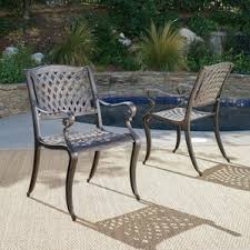 Cast Aluminum Outdoor Sets by Outdoor Club Chairs You U0027ll Love Wayfair