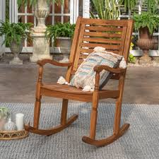Jarrard Solid Acacia Wood Patio Rocking Chair