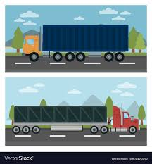 100 Truck And Transportation Cargo And Trailer Delivery Vector Image