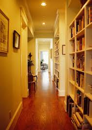 narrow hallway traditional with recessed lighting white light