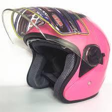 Hot Sell Pink Synthetic Women Vintage Motorcycle Motorbike Vespa Open Face Half Motor Scooter Helmets Visor Men Helmet In From Automobiles