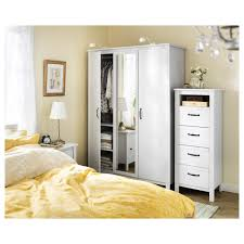 brusali wardrobe with 3 doors white 131x190 cm ikea