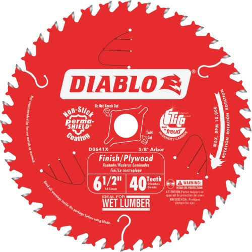 Diablo-d0641a 6-1/2 in. x 40 Tooth Finish Trim Saw Blade