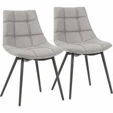 esszimmerstühle 2er set moderne küchenstühle polsterstühle mit eisenbeinen und leinen baumwoll bezug loungesessel grau ldc84gyx grau