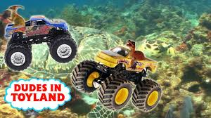Monster Trucks For Children Dinosaur Toys Ocean Toy Videos Sharks ...