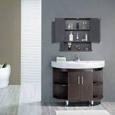 spiegelschrank mit ablage fürs badezimmer grau