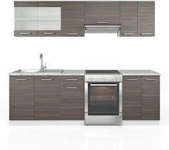 vicco küche raul küchenzeile küchenblock einbauküche 240 cm edelgrau anthrazit kombinierbare einheiten