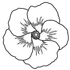 Clip Art Hibiscus B&W