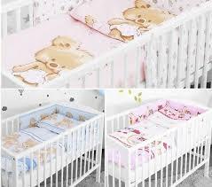 luxus baby bettwäsche set 2 3 5 6 stück nestchen kissen für