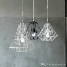 nordic industrial style hive metal cage pendant light chandelier